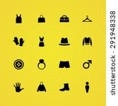 clothes icons universal set for ...   Shutterstock . vector #291948338