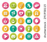 set of 25 flat icons and design ... | Shutterstock .eps vector #291958115