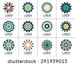 set of simple geometric logos.... | Shutterstock .eps vector #291959015