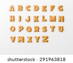 Cookie Letter Alphabet On Whit...
