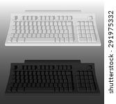 white and black keyboard... | Shutterstock .eps vector #291975332