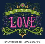 hand drawn vintage print with... | Shutterstock .eps vector #291980798