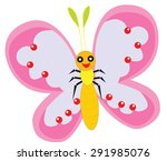 butterfly | Shutterstock .eps vector #291985076