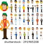 cartoon vector characters of... | Shutterstock .eps vector #291985208