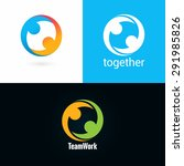 team work logo design icon set... | Shutterstock .eps vector #291985826