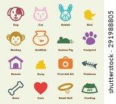 pet elements  vector... | Shutterstock .eps vector #291988805