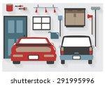 flat icons garage furniture... | Shutterstock .eps vector #291995996