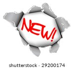 new label   hole in the sheet... | Shutterstock .eps vector #29200174
