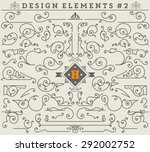 vintage ornaments decorations... | Shutterstock .eps vector #292002752
