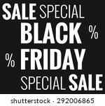 black friday | Shutterstock . vector #292006865