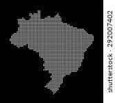 map of brazil | Shutterstock .eps vector #292007402