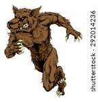 an illustration of a sprinting... | Shutterstock .eps vector #292014236