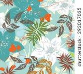 vector seamless floral flowers   Shutterstock .eps vector #292017035