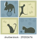 vector cat silhouettes design... | Shutterstock .eps vector #29202676