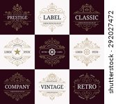 set of retro vintage luxury... | Shutterstock .eps vector #292027472