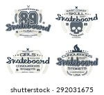 skateboard emblems  for t shirt.... | Shutterstock .eps vector #292031675