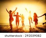 friendship freedom beach summer ... | Shutterstock . vector #292039082