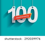 100 anniversary numbers with... | Shutterstock .eps vector #292039976