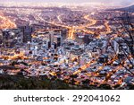cape town city early morning... | Shutterstock . vector #292041062