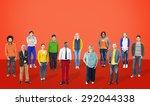 diversity people community... | Shutterstock . vector #292044338
