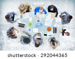 meeting communication planning... | Shutterstock . vector #292044365