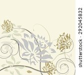 vintage invitation card with... | Shutterstock .eps vector #292045832