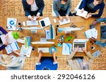 business people technology... | Shutterstock . vector #292046126