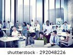 business people office working... | Shutterstock . vector #292048226