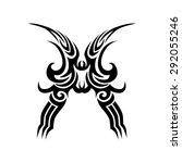 tribal tattoo vector design... | Shutterstock .eps vector #292055246