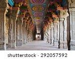 inside of meenakshi hindu... | Shutterstock . vector #292057592