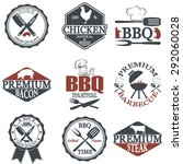 set of butcher shop labels and... | Shutterstock .eps vector #292060028