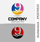 9  number seven logo  symbol ... | Shutterstock .eps vector #292070525