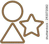 rope border shapes | Shutterstock .eps vector #292072082