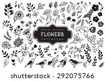 vintage decorative flowers and... | Shutterstock .eps vector #292075766