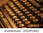 Antique Typewriter Keys Close...