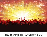 poster for sports concerts and... | Shutterstock .eps vector #292094666