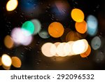 image of raindrops on window at ... | Shutterstock . vector #292096532