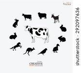 farm animals . livestock.vector ... | Shutterstock .eps vector #292097636
