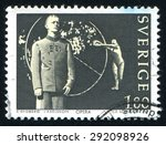 Small photo of SWEDEN - CIRCA 1983: stamp printed by Sweden, shows Aniara opera, circa 1983