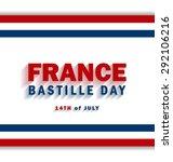 14th july bastille day of france | Shutterstock .eps vector #292106216