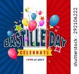 14th july bastille day of france | Shutterstock .eps vector #292106222