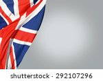 Great Britain Flag And Gray...