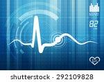 ecg abstract background  ... | Shutterstock .eps vector #292109828