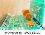 electronic board  capacitor and ... | Shutterstock . vector #292113122