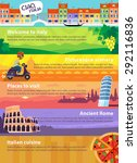 colorful vector travel banners... | Shutterstock .eps vector #292116836