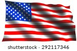 american flag for independence... | Shutterstock . vector #292117346