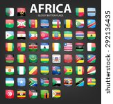 glossy button flags   africa.... | Shutterstock .eps vector #292136435