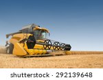 close view of modern combine... | Shutterstock . vector #292139648