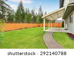 nice backyard with space and a... | Shutterstock . vector #292140788