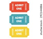 admit one ticket set isolated... | Shutterstock .eps vector #292144886